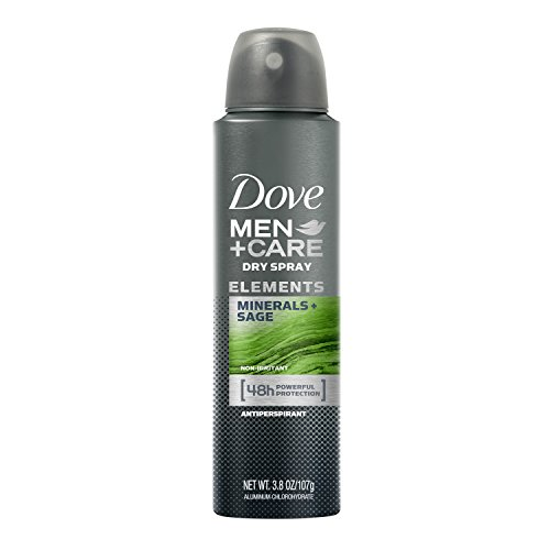 Dove Men+Care Elements Antiperspirant Dry Spray, Minerals + Sage, 3.8 Ounce