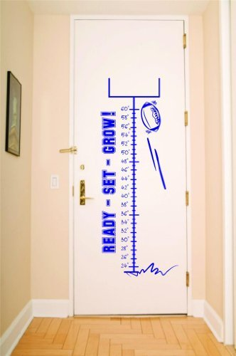 Football Growth Chart Picture Art - Kids Bed Room - Peel ...