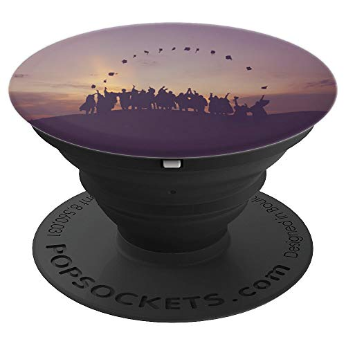 Graduation Cap Toss - PopSockets Grip and Stand for Phones and Tablets