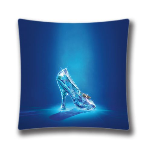 Cinderella Lost Shoe Theme Decorative Pillow Cover, 18x18 inches Square Pillowcase (Twin sides) AnasaC31767 - Cinderellas Lost Shoe