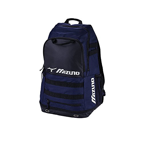 Mizuno Softball Backpack (Mizuno 360272.5190.01.0000 Team Elite Crossover Backpack One-Size NAVY-BLACK)