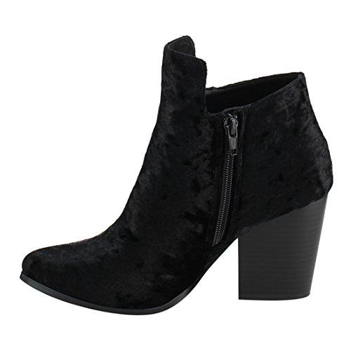 Block Black Static Zipper Side Brock Heel Middle 2 Ankle Toe Almond Booties Footwear Women's O8wOZrpq