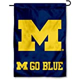 Michigan Wolverines Go Blue Garden Flag and Yard Banner