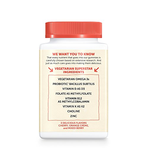 SmartyPants Vegetarian Organic Kids Daily Gummy Vitamins: Multivitamin, Gluten Free, Non-GMO, Omega-3, Probiotic, Vitamin D3, Methylcobalamin B12, Zinc; 120 Count (30 Day Supply) by SmartyPants Vitamins (Image #14)