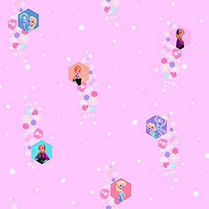 Amazon Com Disney Frozen Pink Wallpaper Anna And Elsa Fr3003 2