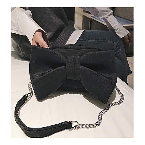 Noir Bandoulière À Sac Pour Femme Le Petit Velvet Bowknot Main Parti Large A Shouldbag O6wqY0
