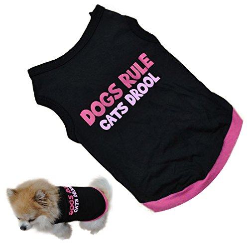 Voberry Pet Dog Puppy Cat Classic Quote T-shirt Doggy Clothes Cotton Shirts (M) (Doggy Clothes)