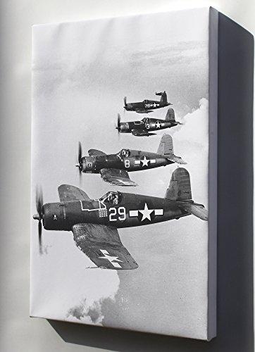 Canvas 16x24; Navy Vought F4U-1A Corsairs (Vf-17) Jolly Rogers 1944