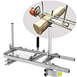 """Vanell 14 Inch - 36 Inch Saw Mill Portable Chain Sawmill Attachment Planking Milling Cutting Guide Bar Fits for Chainsaw Bars up to 14''-36"""" with NO Chainsaw"""