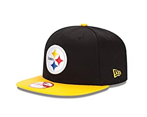 NFL Pittsburgh Steelers Baycik Snap 9Fifty Snapback Cap, Small/Medium, Black at SteelerMania