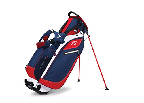 UPC 190228033949, Callaway Golf 2017 Hyperlite 3 Stand Bag, Double Strap, Navy/Red/White