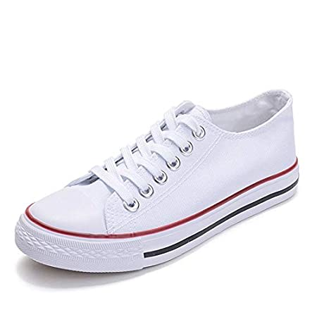 Amazon.com: JingZhou Women Canvas Shoes 2018 White Sneakers Flat Casual Tenis Feminino Woman Zapatos de Mujer Plus Size 43 H163: Garden & Outdoor