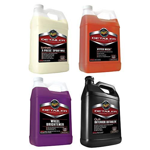 MEGUIAR'S Spray Wax, Hyper-Wash, Wheel Brightener, and Quik Interior Detailer