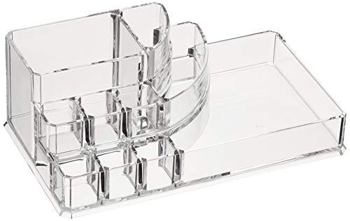 AmazonBasics Square Acrylic Cosmetic Makeup Organizer Storage, Large]()