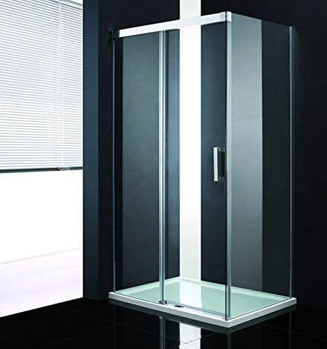 LUX de Aqua Mampara de ducha (Puerta de ducha cabina de ducha rollmech de bloqueo con vidrio de Amortiguador (8 mm) hs312l: Amazon.es: Bricolaje y herramientas