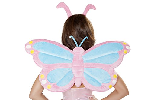 [J. Valentine Women's Pastel Butterfly Wings, Blue/Pink, One Size] (Blue Monarch Butterfly Costume)