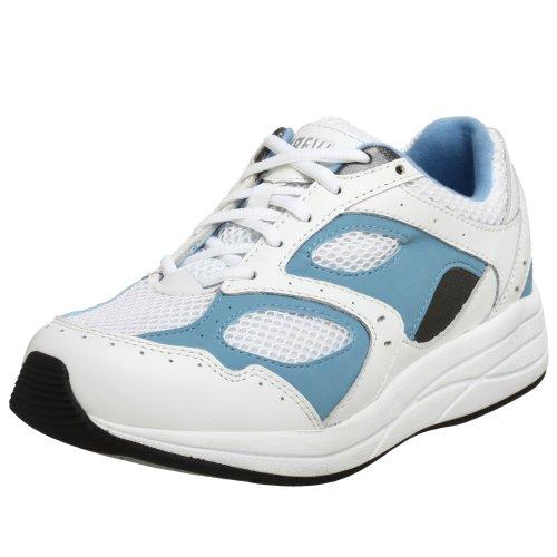 (Drew Shoe Women's Flare, White/Blue, 7.5 XW (4E))