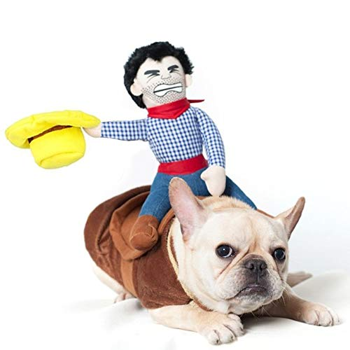 YOUDirect Cowboy Dog Costume Pet Christmas Costume Funny Halloween Dress Up Decoration for Dog and Cat