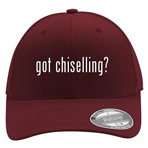 got Chiselling? - Men's Flexfit Baseball Cap Hat, Maroon, Small/Medium ()