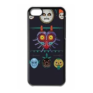 Majoras Mask Vector iPhone 5c Cell Phone Case Black TPU Phone Case SV_070546