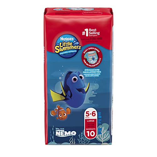 7d686cdbc8bc Huggies Little Swimmers Disposable Swim Diapers, Swimpants, Size 5-6 Large  (over