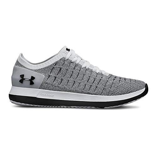 Under Armour Boys' Grade School Slingride 2 Sneaker, White (101)/Black, 5.5