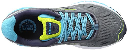 Brooks Womens Fantasma 9 Argento / Blu Atollo / Lime Punch