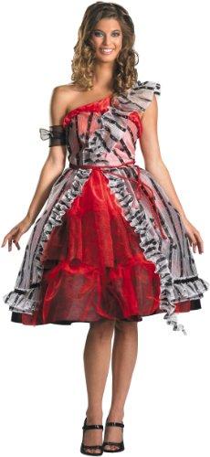 Disguise Women's Alice In Wonderland Movie Red Court Dress Costume, Red/Black, Medium (Red Alice In Wonderland Dress)