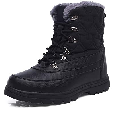 aeepd Winter Snow Boots Water Resistant Outdoor Ankle Booties Warm Fur Lined Anti-Slip Mid Calf Boots | Snow Boots