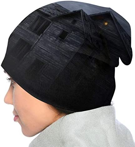 Halloween Forest Pumpkins Skull Cap Men /& Women Knit Hats Stretchy /& Soft Beanie