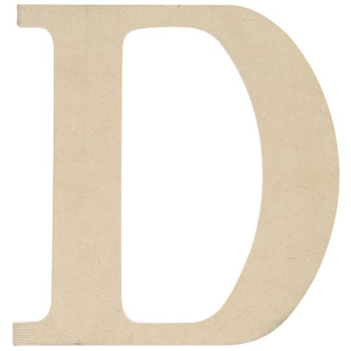 MPI MDF Classic Font Wood Letters and Numbers, 9.5-Inch, Letter D