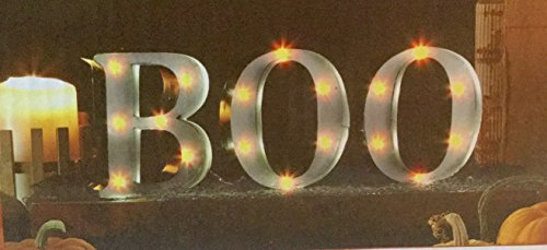 Halloween BOO Lighted Metal Marquee Sign