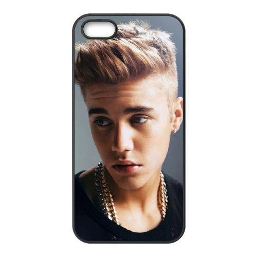 Justin B 002 coque iPhone 5 5S cellulaire cas coque de téléphone cas téléphone cellulaire noir couvercle EOKXLLNCD24986