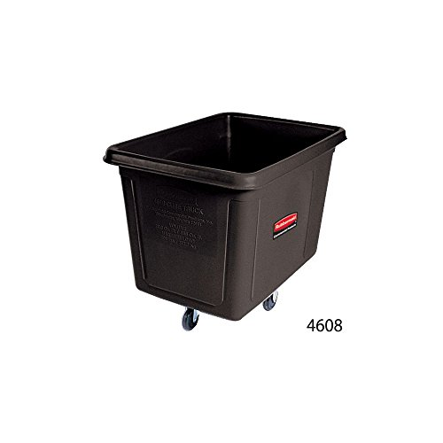 Rubbermaid Commercial Bulk Box Cart, 8 Cu. Ft., Black, FG460800BLA Box Caster