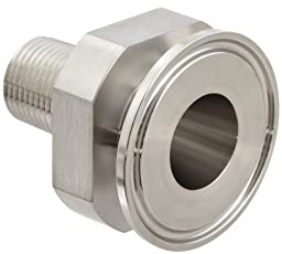 Dixon 21MP-R10050 Stainless Steel 316L Sanitary Fitting, Clamp Adapter, 1\