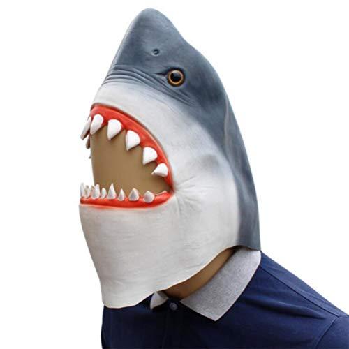 Novelty Halloween Costume Make up Party Latex Scary Horror Animal Shark Head Mask