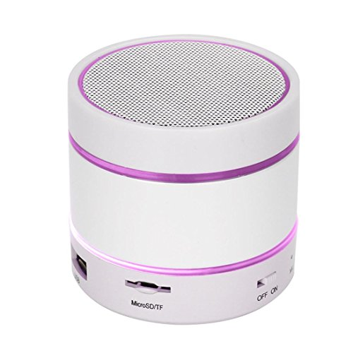 Price comparison product image Mchoice LED Bluetooth Wireless Speaker Portable and Rechargeable TF Card For iPhone (White)