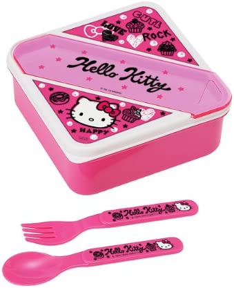 Hello Kitty Lunch Box with Utensils - Squiggle (accesorio de ...