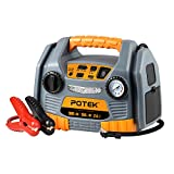 Best Car Jump Starters - POTEK Jump Starter Source with 150 PSI Tire Review
