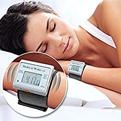 Silent Vibrating Personal Alarm Clock Shake-N-Wake (White)