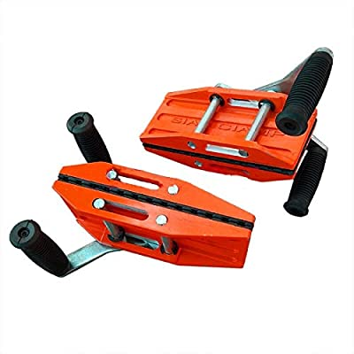 Image of C-Clamps ZUOS ZF202 A Pairs of Double Handed Carrying Clamps(0-50mm)450lbs