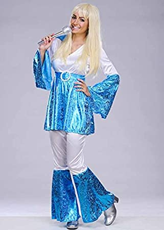 Womens Abba 70s Mamma Mia Costume Medium (UK 12-14)