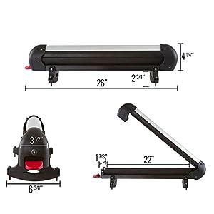 Rage Powersports SKI-4 Ski and Snowboard Roof Carrier