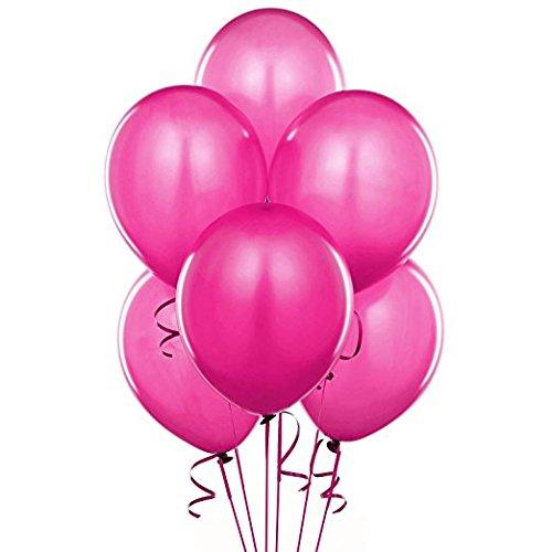 11 Inch Latex Balloons Bright-tone Hot Pink Pkg/25