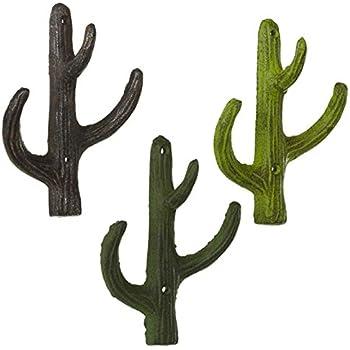 Amazon.com: MyGift Set de 2 montado en pared Metal Cactus ...