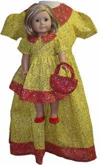 一致すると女の子、人形レッドandイエローCalicoドレスサイズ4   B00Z3B9HZU, 北郷町:49ea1e74 --- arvoreazul.com.br
