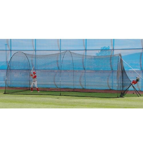 - Heater Sports BaseHit Pitching Machine and PowerAlley Batting Cage