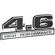 "4.6 Liter High Performance Engine Emblem in Chrome & Black - 5"" Long"