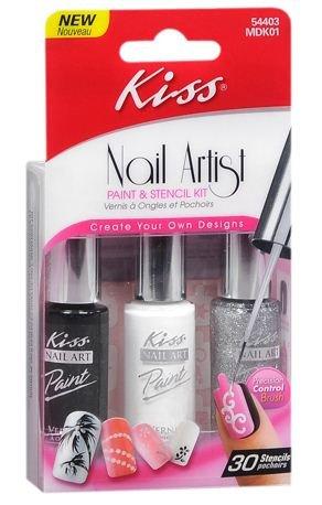 Amazon Kiss Nail Artist Paint Stencil Kit 54403 Nail