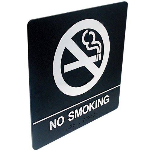 Tactile Braille Signs - No Smoking